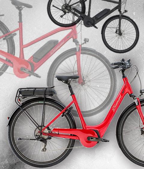 Elektro-City-/Trekkingräder Diamant